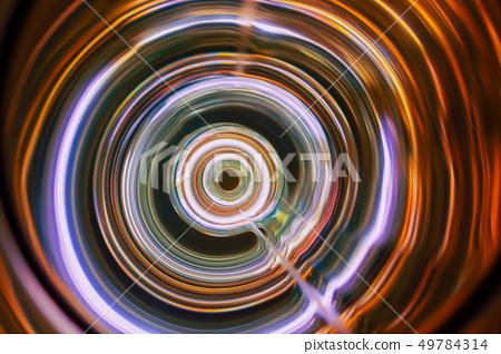 Sound waves in the dark in full color 49784314