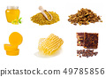 Set of beekeeping products on a white background. 49785856
