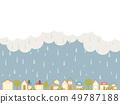 Rainy city 49787188