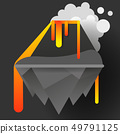 Volcano eruption natural cataclysm vector 49791125