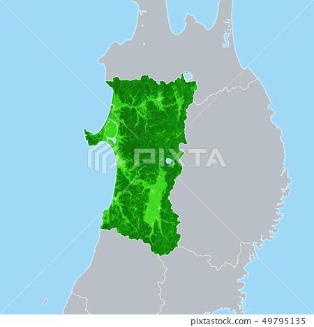 Akita Prefecture Map 49795135