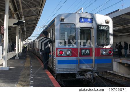 Keisei Electric Railway, Keisei Kanamachi Line 3600 train, stopping at Shibamata Station 49796074