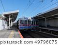 Keisei Electric Railway, Keisei Kanamachi Line 3600 train, stopping at Shibamata Station 49796075