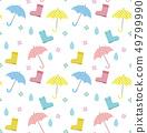 Illustration seamless pattern of rainy season 49799990
