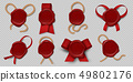 Wax seal. Realistic certificate stamps with ribbons and ropes, 3d medieval royal envelope labels 49802176