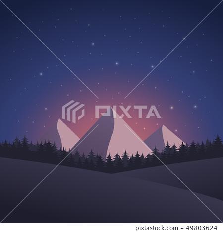 Mountain Landscape Vector 49803624