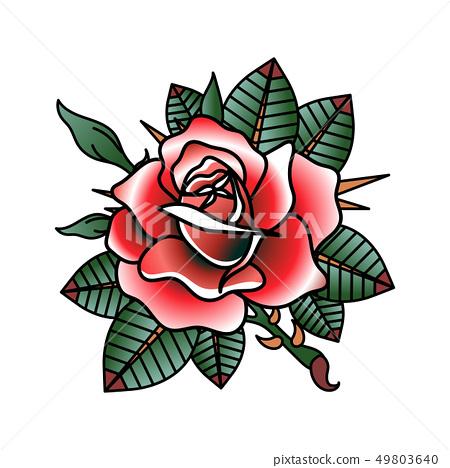 Flower Tattoo Vector Image 49803640
