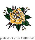 Flower Tattoo Vector Image 49803641