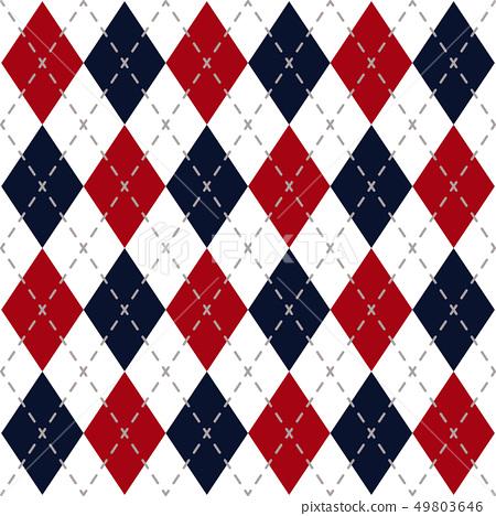 Argyle Check Pattern 49803646