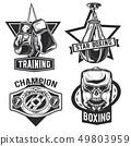 Set of box emblems, labels, badges, logos.  49803959