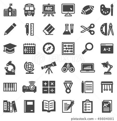 EDUCATION ICON SET 36 49804001