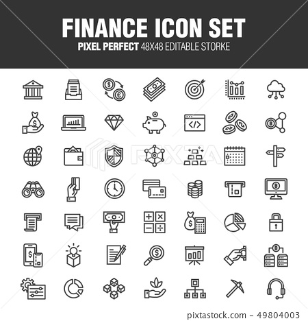 FINANCE ICON SET 49804003