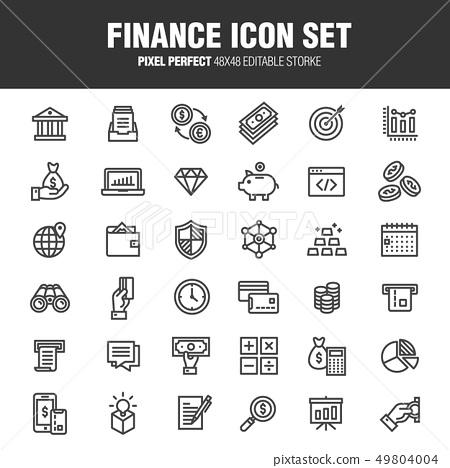 FINANCE ICON SET 49804004