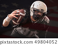 Close up portrait of American Football Player 49804052