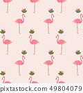 Flamingo Pattern Background 49804079