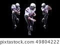 High jump of American Footballer 49804222