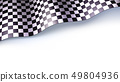 Checkered flag for car race or motorsport rally 49804936