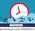 Business team and time management. Concept 49808221