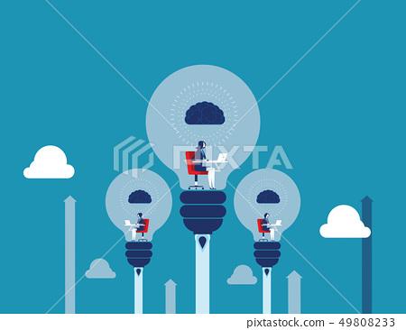 Best ideas. Business people create ideas. Concept 49808233