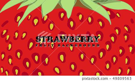 strawberry fruit background 49809563