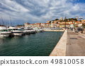 Cannes City Port View To The Old Town 49810058