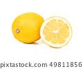 Lemon with half 49811856