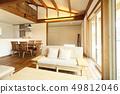 Stylish living of a pet living designer house 49812046