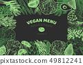 Green vegetables design template. Hand drawn 49812241