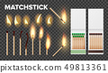 Burning Matches In Matchbooks, Flame Vector Set 49813361