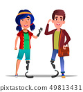 People With Bionic Legs Cartoon Vector Characters 49813431