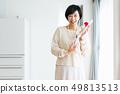 母親節的女人康乃馨 49813513