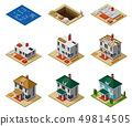 House Construction Phases Isometric Set 49814505