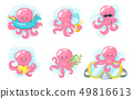 Octopus cartoon style  49816613