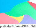 Abstract wavy multi colored paper background 49816760