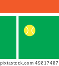 background vector of tennis ball in tennis court 49817487