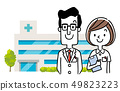 Illustration material: doctor and nurse 49823223