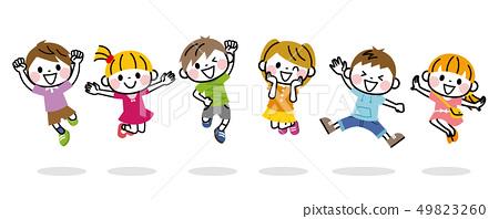 Children to jump 49823260
