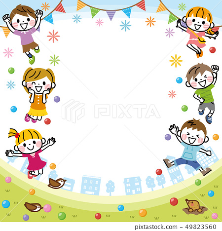 兒童的框架 49823560