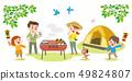 家庭享受露營 49824807