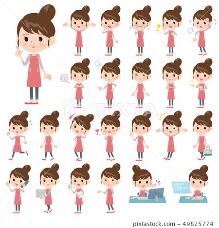 Ballet Bun hair Apron mom_emotion 49825774