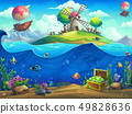 Undersea world with grinder on the island 49828636