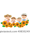 In pop family summer clothes! Sunflower field 49830249