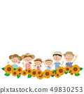 In pop family summer clothes! Sunflower field 49830253
