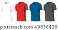 Set of t-shirts on white background. Vector illustration. 49836439