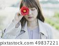꽃과 여성 49837221