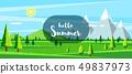 Summer landscape. Hello summer. 49837973