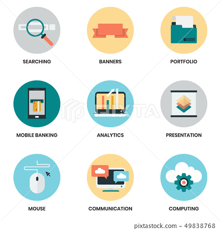 Business icons set for business 49838768