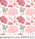 Colorful Sea Coral Pattern 49842521