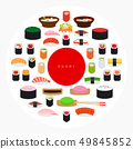 Japanese food sushi poster 49845852