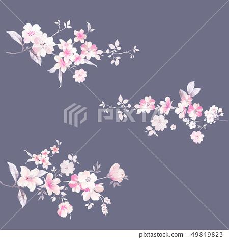 優雅的水彩花卉和邀請卡設計 49849823